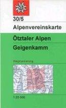 DAV Alpenvereinskarte 30/5 Ötztaler Alpen Geigenkamm 1 : 25 000