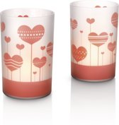 Philips CandleLights Special Moments - LED - Set van 2 - Rood