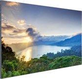 Meer met bergen  Aluminium 60x40 cm - Foto print op Aluminium (metaal wanddecoratie)