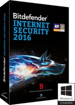 Bitdefender Internet Security 2016 - Nederlands / Frans / 1 Jaar / 3 Apparaten