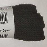 2 Paar (4 stuks) zwarte platte schoenveters van 75 cm lang en 8 mm breed - Bergal 8856 veters