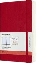 Moleskine 18 maanden agenda 2019-2020 - Dagelijks - Large (13x21 cm) - Rood - Zachte kaft