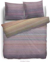 HnL Living Gradient Stripe - Dekbedovertrek - Katoensatijn - Eenpersoons -  140 x 200/220 - Multi