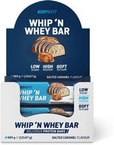Body & Fit Whip N Whey Bars - Salted Caramel - 12 eiwitrepen