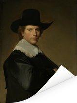 Portret van een man - Schilderij van Johannes Cornelisz Verspronck Poster 120x160 cm - Foto print op Poster (wanddecoratie woonkamer / slaapkamer) XXL / Groot formaat!