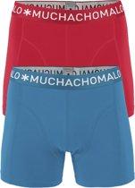 Muchachomalo - Heren 2-pack Boxershorts Solid Rood Blauw - L