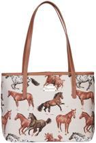 Signare College tas Running Horse | Paard | Paarden | Gobelinstof