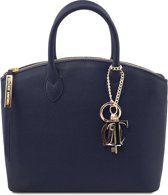 Tuscany Leather Dames Handtas TL Keyluck klein model - Donker Blauw - Handtas in Safiano leer - TL141265