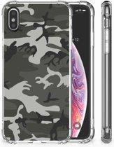 iPhone X | Xs Uniek TPU Hoesje Army Light