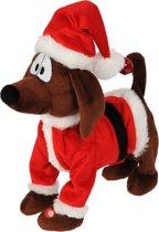 Christmas Gifts hond - kerst - zingt en danst – 26x15x26cm