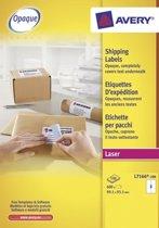 Avery Witte laseretiketten QuickPeel  doos van 100 blad formaat 991 x 931 mm (b x h) 600 stuks 6 per blad