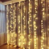 Lichtgordijn kerst - Kerstverlichting - LED gordijn - 3x3m - Warm Wit
