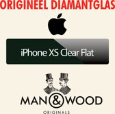 Man & Wood - iPhone XS - Clear Flat Diamantglas® Screen Protector