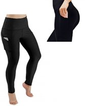 Yogapants Sportlegging Zwart M Inclusief Vakje voor Telefoon – Sport Legging voor o.a. Spinnen / Pilates / Yoga – Hardloopbroek Elastisch en Sneldrogend - Hot Pants - Sport Leggings Fitness