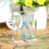 Kleine acryl timer zandloper 3/4 / 5min voor thee / Cafe verjaardag Xmas kind Gift