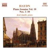 Haydn: Piano Sonatas Vol 10 - nos 1-10 / Jeno Jando