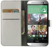 HTC One M8 Portemonnee Flip Hoesje Wit