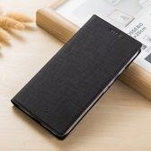 Hoesje voor Samsung Galaxy Note 8, canvas bookcase, zwart