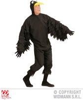 Arend & Struisvogel & Uil & Kraai & Aasgier & Toekan & Flamingo Kostuum | Zwarte Vrolijke Kraai | Man | Medium | Carnaval kostuum | Verkleedkleding