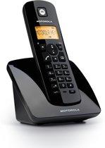 Motorola C401 Uitgebreide Single Set - BE - DECT Telefoon met Handsfree en Display Verlichting - Zwart