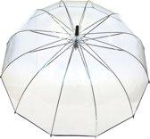 Smati No12 Paraplu - Transparant - Stormbestendig - Zwart- Ø102cm