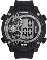 All Blacks 680330 digitaal horloge 52 mm 100 meter zwart/ grijs