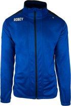 Robey Trainingsjack - Voetbaljas - Royal Blue/Black - Maat L