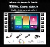 autoradio android inclusief 2-DIN TOYOTA Universal (Silver) frame Audiovolt 11-107