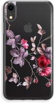 iPhone XR Transparant Hoesje (Soft) - Mooie bloemen