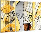 Canvas schilderij Art | Bruin, Geel | 120x80cm 3Luik