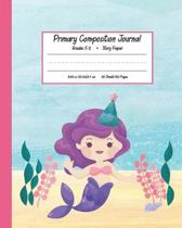 Primary Composition Journal Grades K-2 Story Paper: With Story Space and Dotted Mid Line Grades K-2 Picture Space And Dashed Mid Line Doodling Drawing