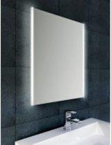 Badkamerspiegel Wiesbaden Duo 80x60cm Geintegreerde LED Verlichting Verwarming Anti Condens Lichtschakelaar Dimbaar