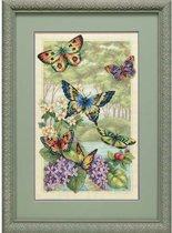 borduurpakket 35223 vlinders met bloemen