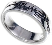 Ogham liefde Zilveren ring maat 57