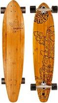 Nijdam Pro-line Longboard 42 Bamboo - Pro-line - Zwart/Rood