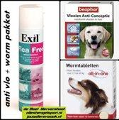 vlooien en wormen pakket hond van 21 tot  40 kg.