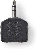 Nedis Stereo-Audioadapter 3.5mm M-2x 3.5mm F BK