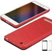 Teleplus Xiaomi Redmi 4A Camera Protected Silicone Case Red + Full Closure Glass hoesje