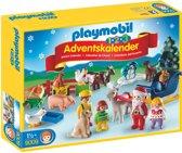 123-Playmobil Adventskalender Kerst op de boerderij - 9009