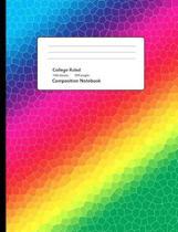 Artistic Rainbow Composition Notebook