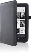 Zwarte Leren Beschermhoes Pocketbook Touch Lux 2 (Cover - Case - Hoes)