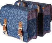 Basil Boheme Double Bag Dubbele Fietstas - 35 l - Indigio Blauw