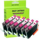 6 Pack Compatible Canon CLI-521 M*6 inktcartridges, 6 pak. 6 magenta,