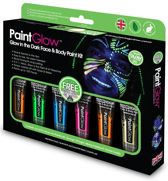 PaintGlow Box Face & Body Paint glow in the dark