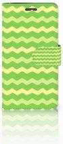 Lenovo K6 Boekhoesje Design Waves Green