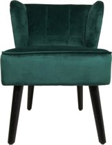 HSM Collection - Cocktail chair - velvet donkergroen