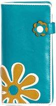 SHAGWEAR portemonnee Flower turquoise - 066Z
