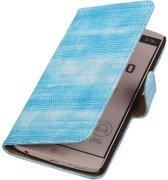 LG V10 - Mini Slang Turquoise Booktype Wallet Hoesje