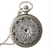 Treasure Trove® Opengewerkt Vintage Lange Ketting Horloge Vrouwen - Dames horloge - 82 cm