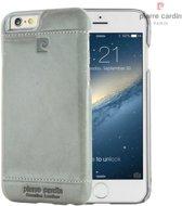 Pierre Cardin Backcover hoesje Grijs - Stijlvol - Leer - iPhone 6/6S  - Luxe cover